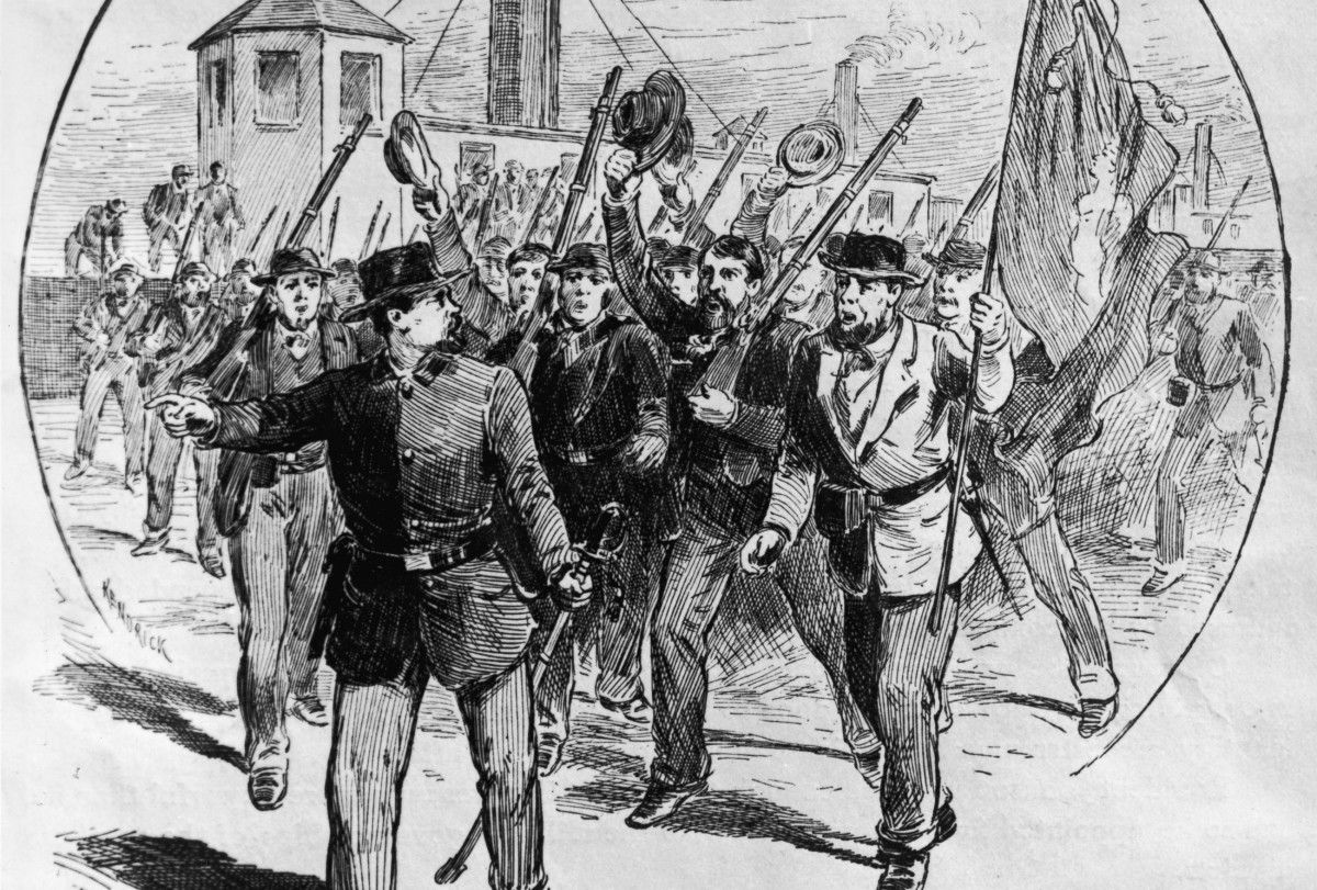 Fenians take possession of St. Armand in Canada during the Fenian Invasions, June 1866.