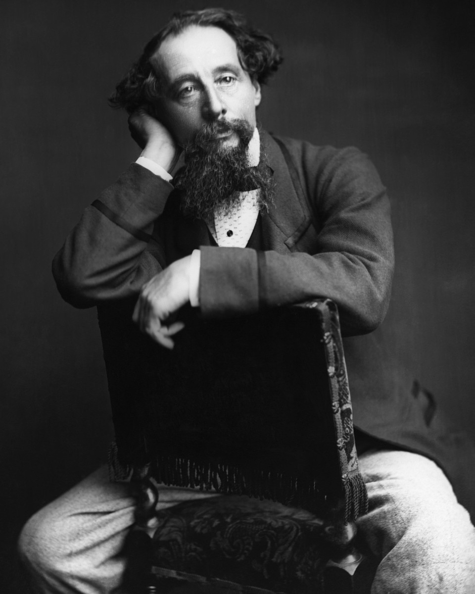 English novelist Charles Dickens (1812-1870).