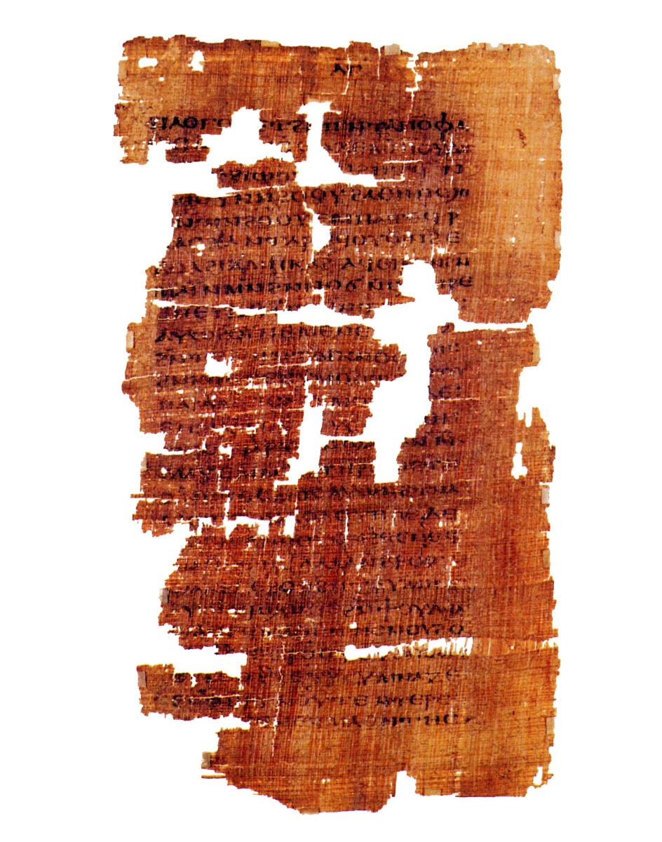 An ancient Coptic manuscript dating from the third or fourth century, containing the only known surviving copy of the Gospel of Judas.