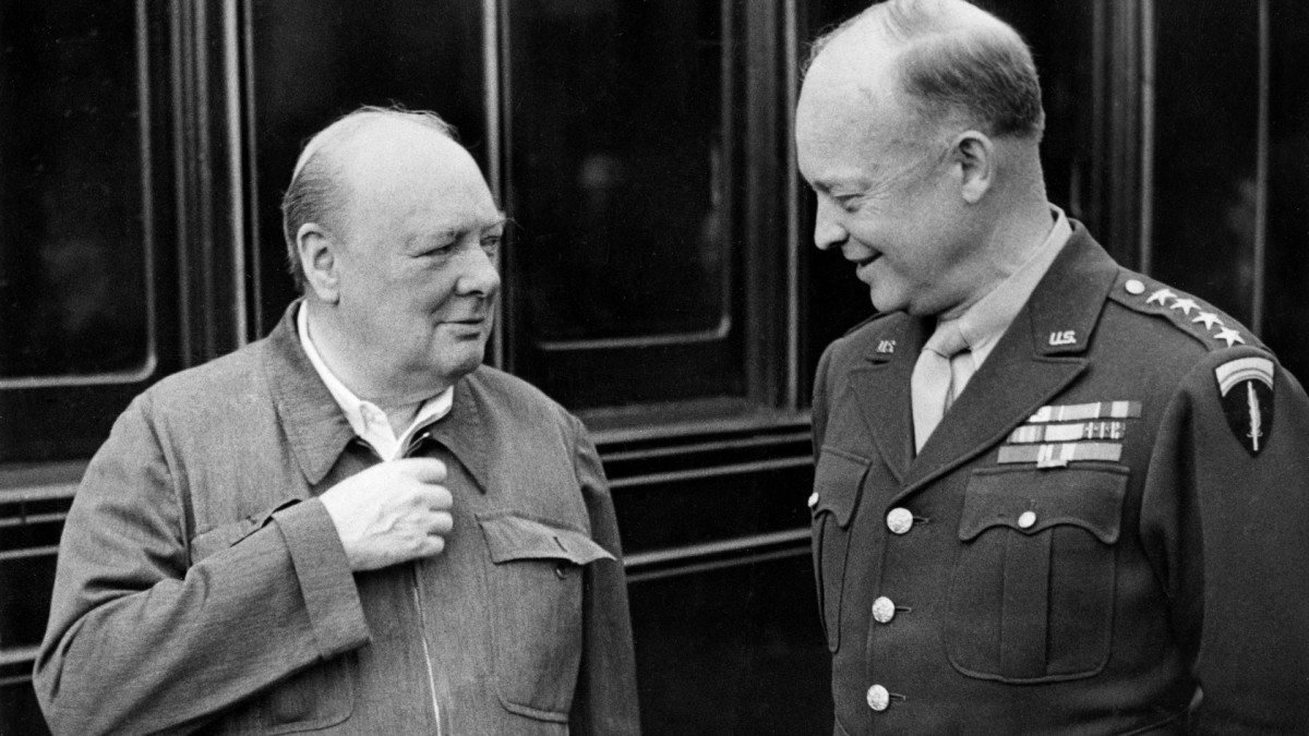 Winston Churchill and Dwight D. Eisenhower