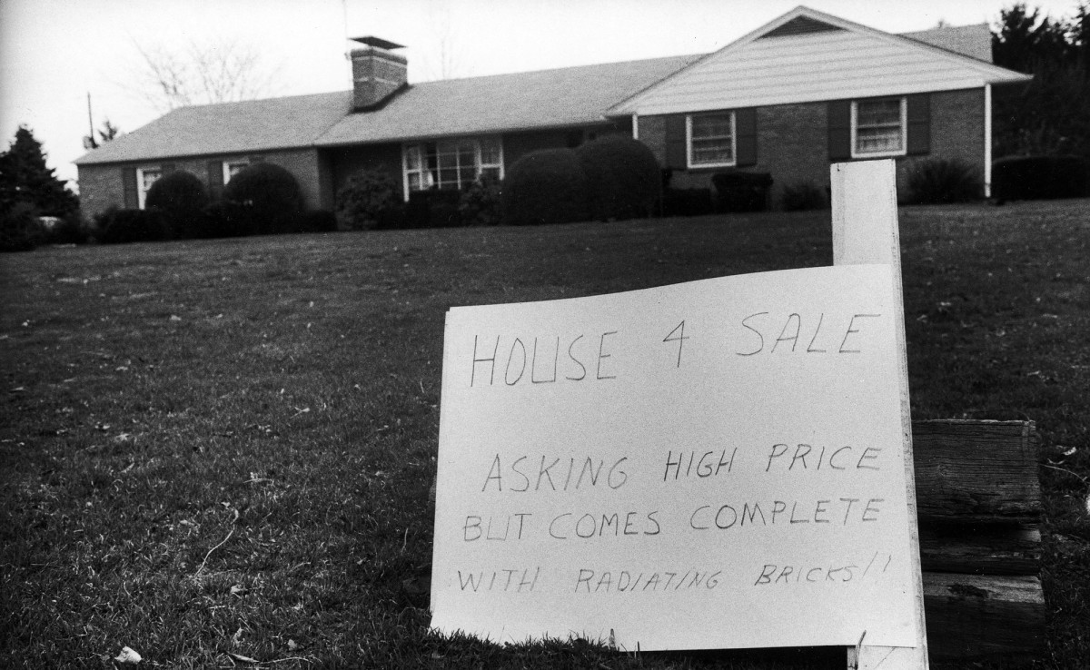 A house on the market near Three Mile Island nuclear center following accident at the reactor.
