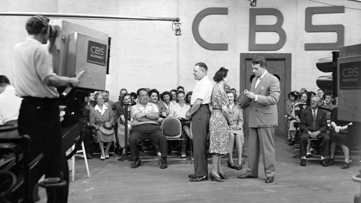 CBS television quiz and audience participation program, Missus Goes A Shopping, in 1944. (CBS via Getty Images)