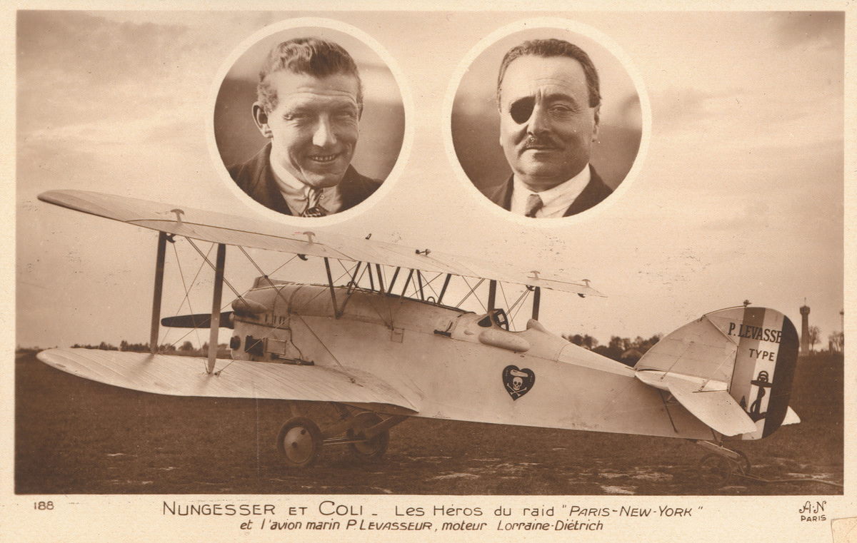 Post card of the White Bird, which crashed in 1927