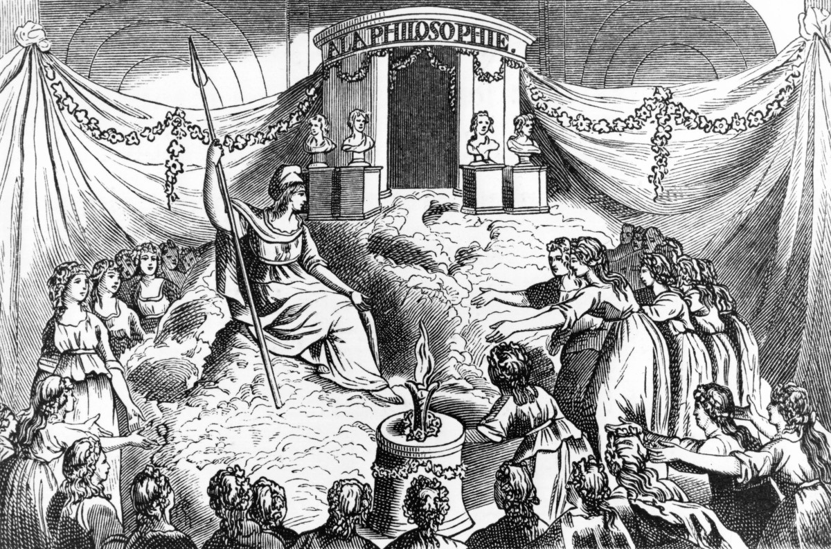 The temple of philosophy at the Feast of Reason at Notre-Dame de Paris, organized as part of the policy of dechristianization of the Paris Commune in 1793, France.