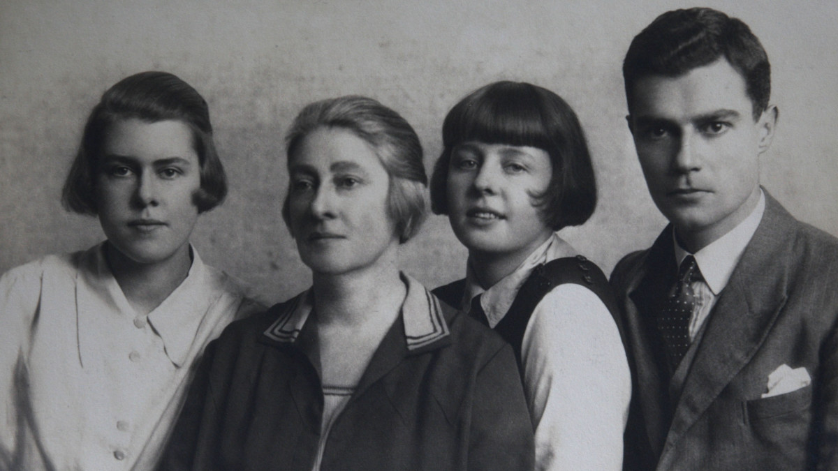 Spy Melita Norwood (far left) pictured with her mother Ger​trude, sister Gerty and half-b​rother Alfred Brandt.