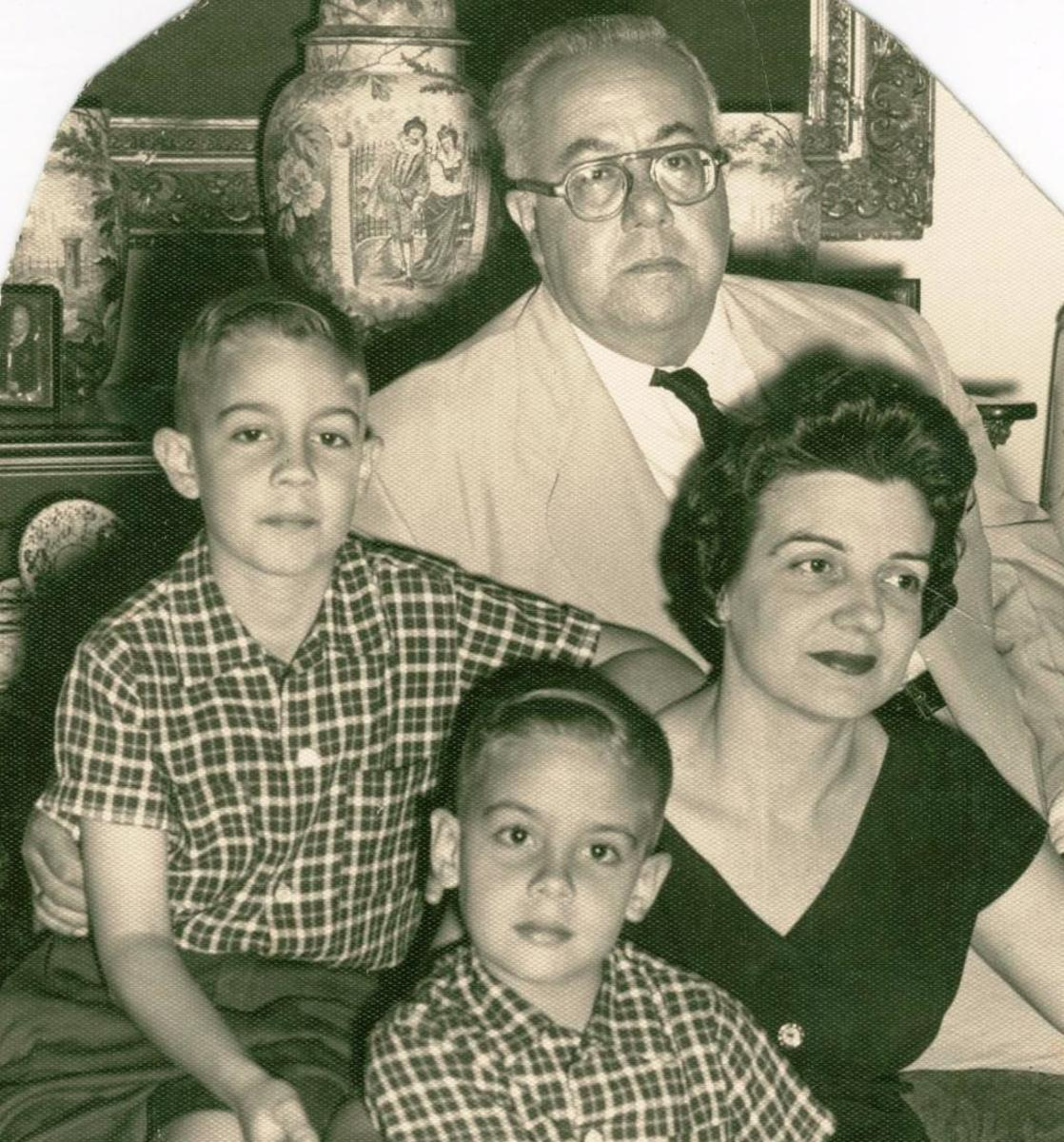 Carlos pictured with his family, circa 1959.