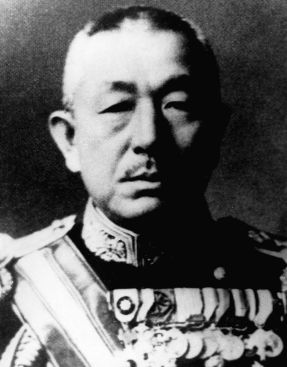 Vice Admiral Mineichi Koga, pictured in 1943, a year before his death in a plane crash.