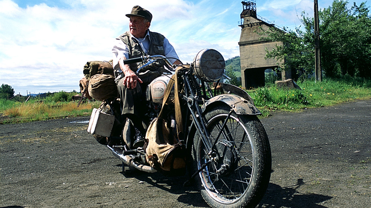 "Alberto Granado on the set of ""The Motorcycle Diaries,"" a 2004 film based on his ride with friend, Che Guevara."