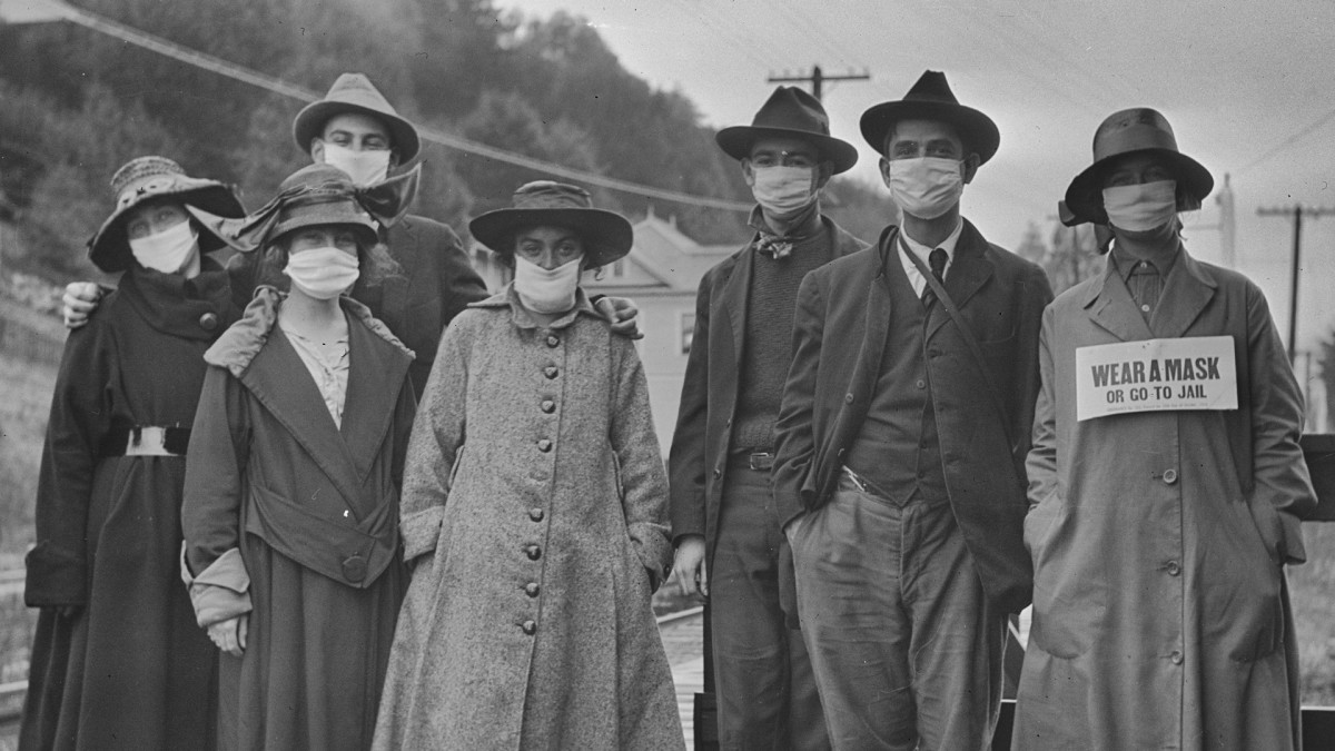 'Mask Slackers' and 'Deadly' Spit: The 1918 Flu Campaigns to Shame People Into Following New Rules