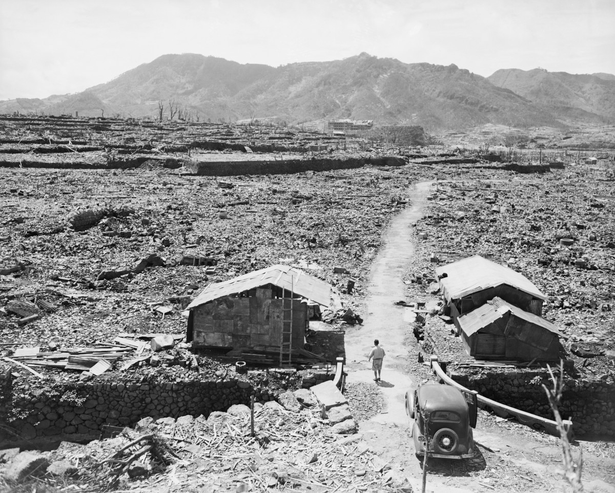 Nagasaki bombing aftermath, 1945