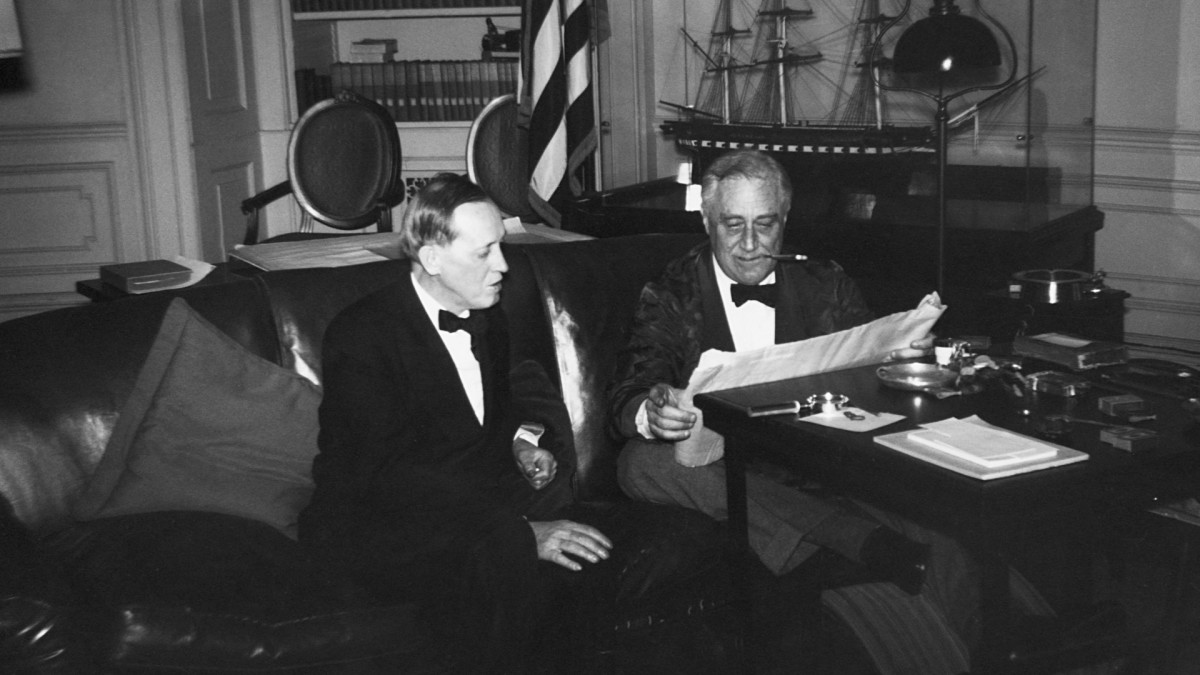 President Franklin D. Roosevelt and Harry Hopkins, WPA