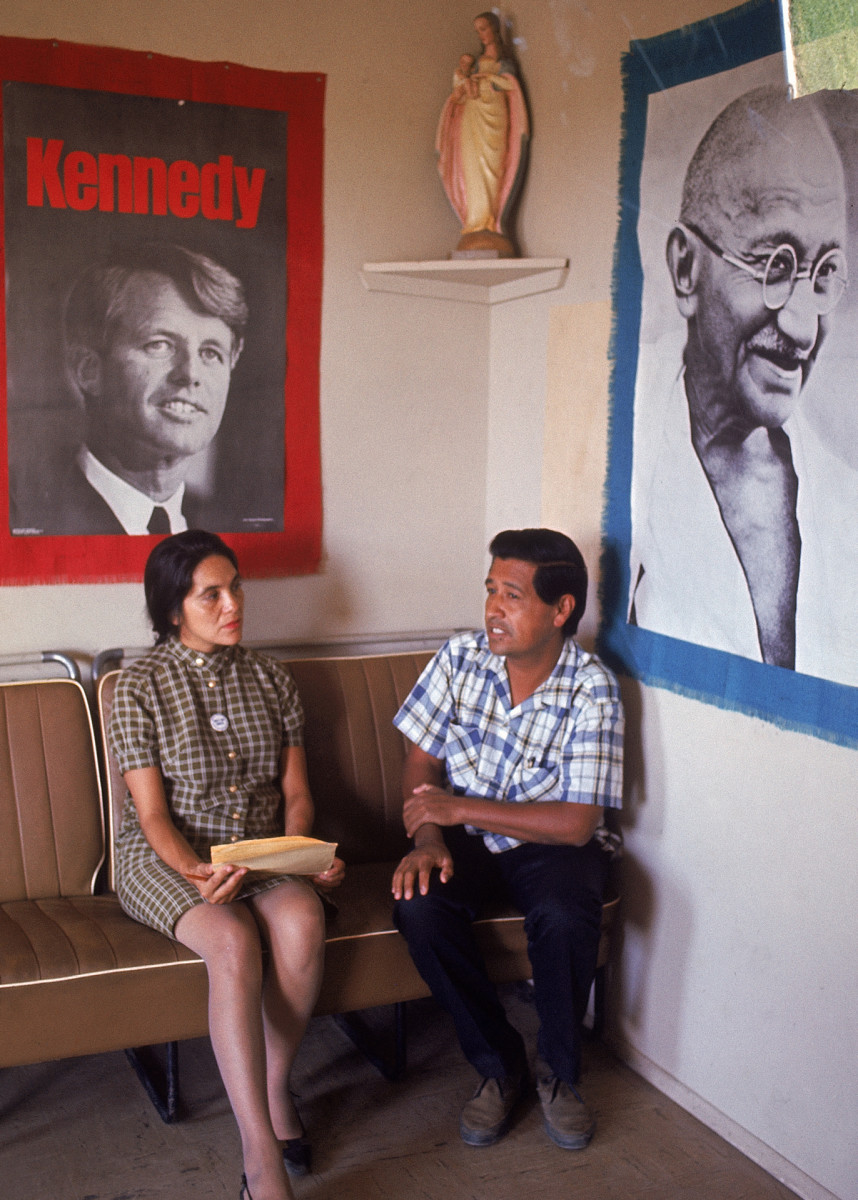 Dolores Huerta and Cesar Chavez, United Farm Workers