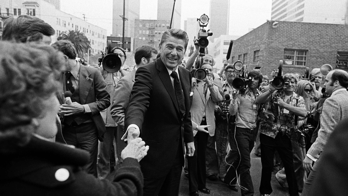 Presidential candidate Ronald Reagan, 1976 Republican National Convention
