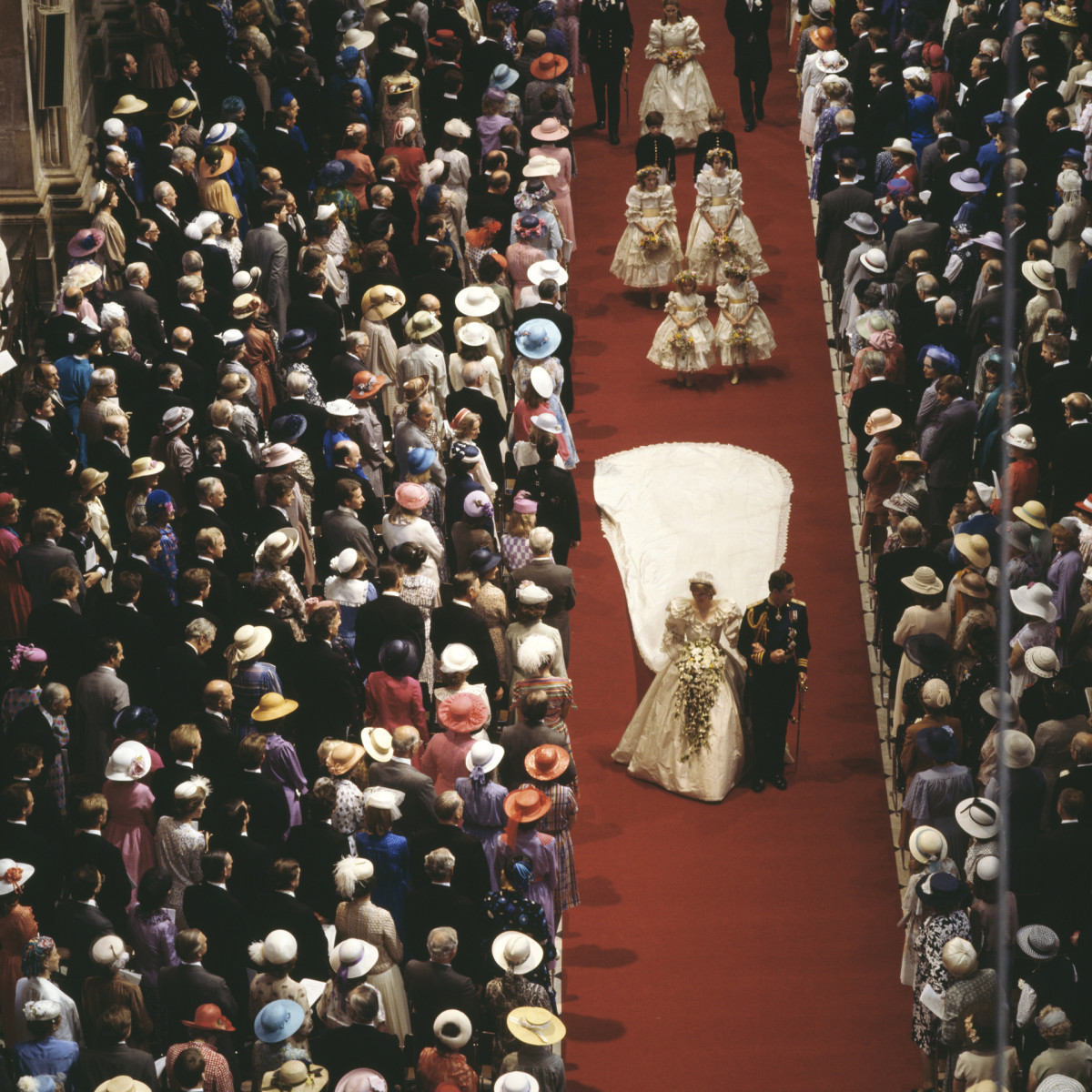 The wedding of Charles, Prince of Wales, and Lady Diana Spencer in St Paul's Cathedral, July 29, 1981.