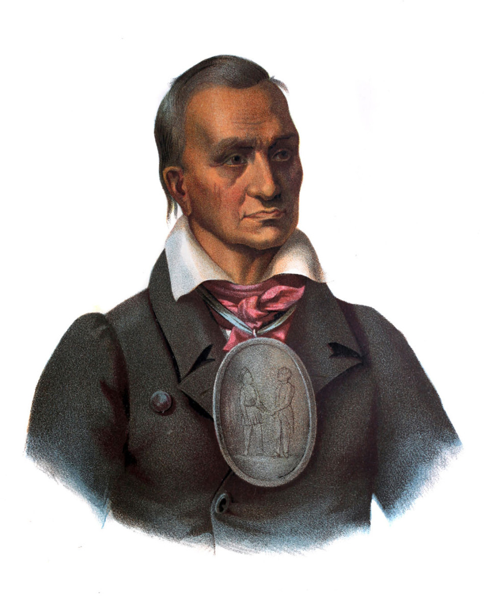 Red Jacket, chief of the Seneca (Iroquois) tribe, and signatory to the Treaty of Canandaigua.
