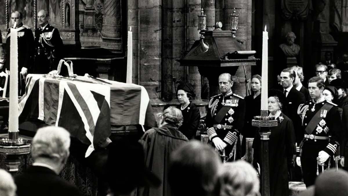 Lord Mountbatten Funeral, Queen Elizabeth II, Prince Philip, Prince Charles, IRA assassination