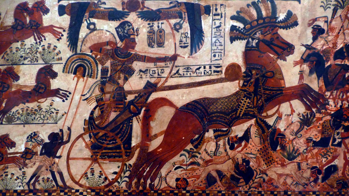 King Tut in battle, Weapons That Powered Ancient Egyptian Fighting Forces