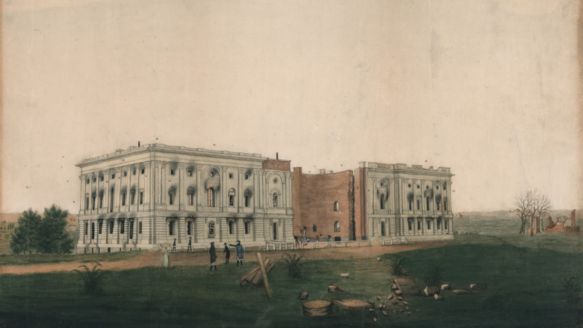 War of 1812, Capitol building fire, 1814