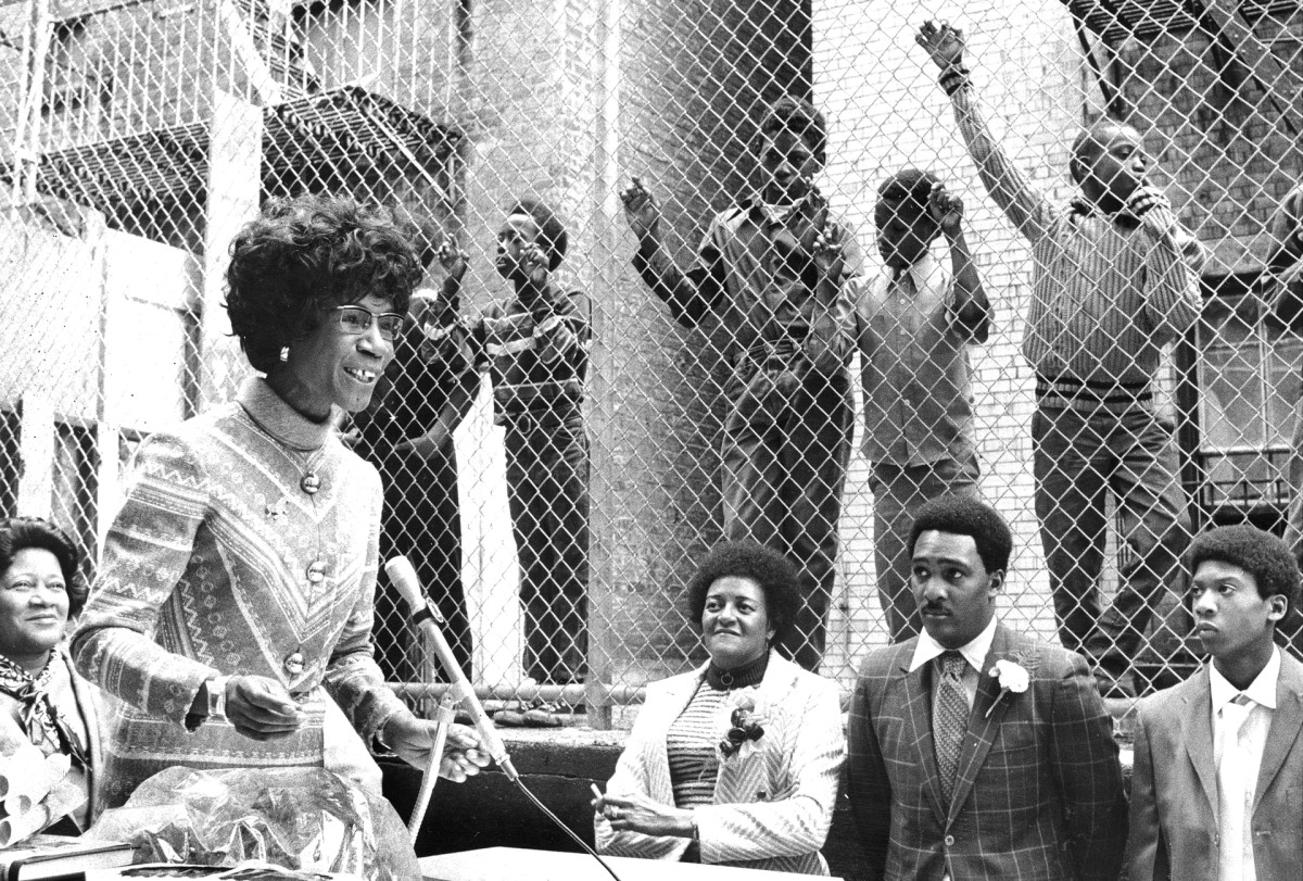 Rep. Shirley Chisholm, dedicates a playground named for her at Willoughby Houses, in Brooklyn, New York, 1971.