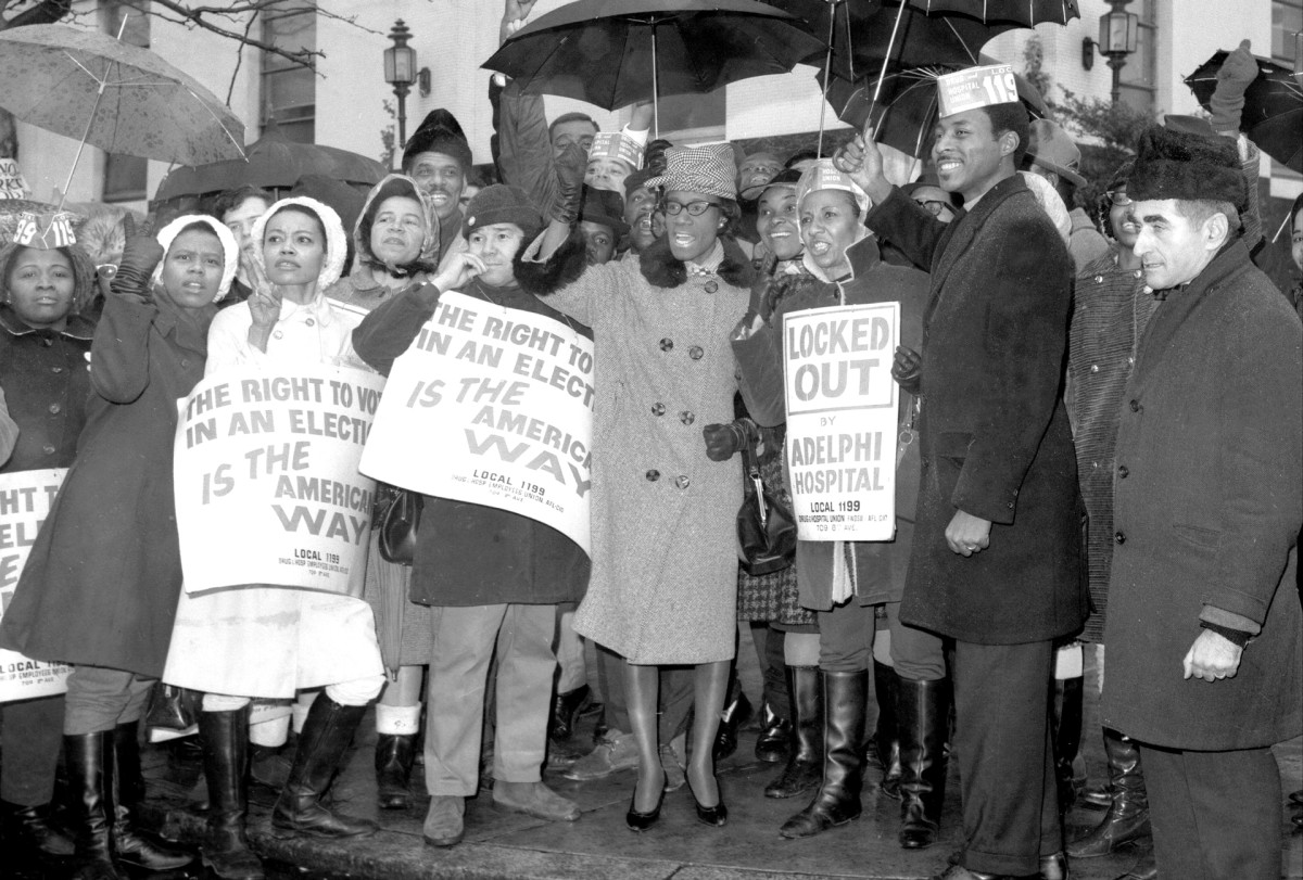 Shirley Chisholm supporting hospital workers strike