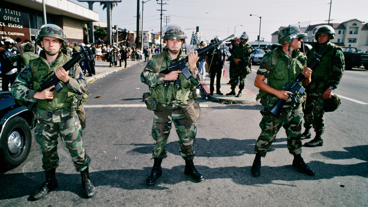 National Guard soldiers, LA Riots 1992