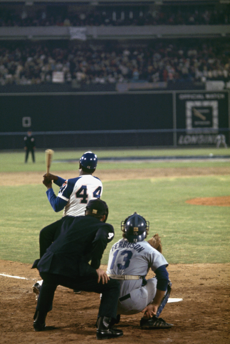 Atlanta Braves Hank Aaron hits 715th career home run breaking Babe Ruth's long standing record April 8, 1974, Atlanta, Georgia