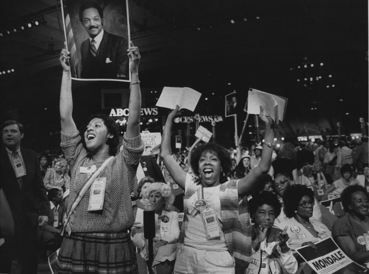 Jesse Jackson supporters at the 1984 Democratic National Convention
