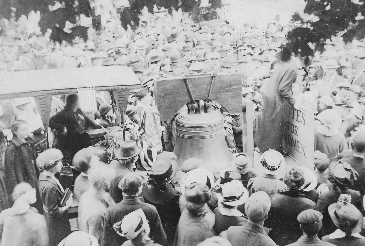 The Justice Bell, Women's suffrage