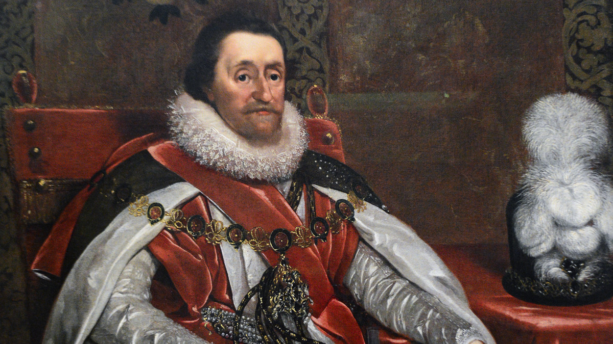 A portrait of James VI and I, King of Scotland, England and Ireland (1566-1625).