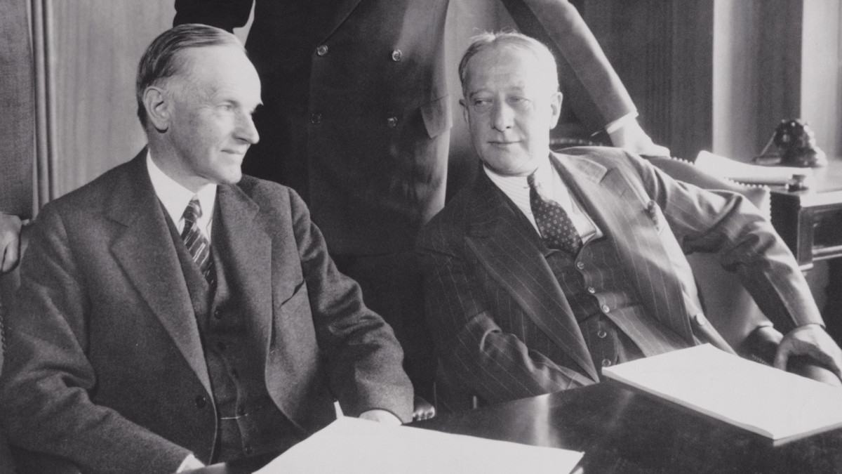 President Calvin Coolidge and Governor Al Smith
