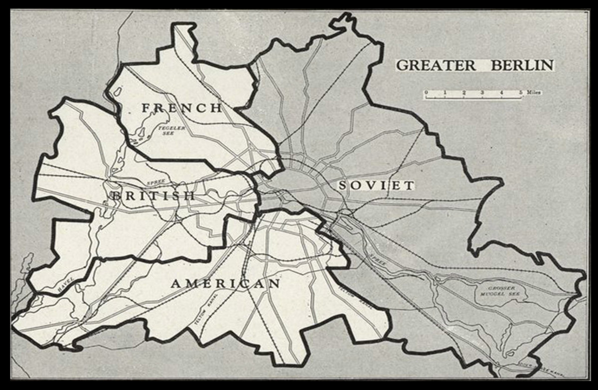 Berlin Blockade map