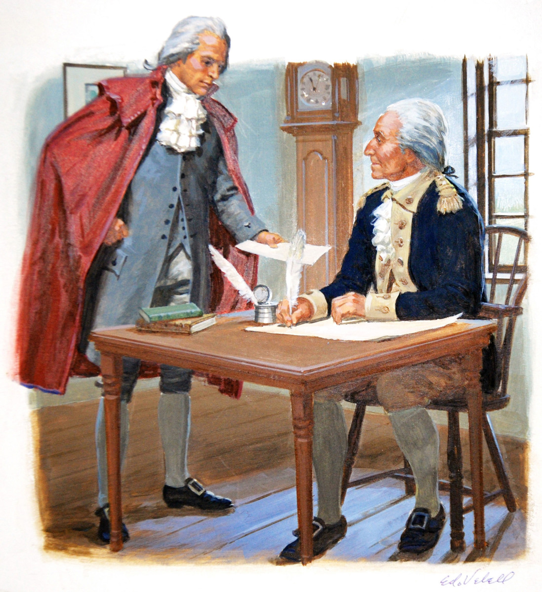 Alexander Hamilton and George Washington