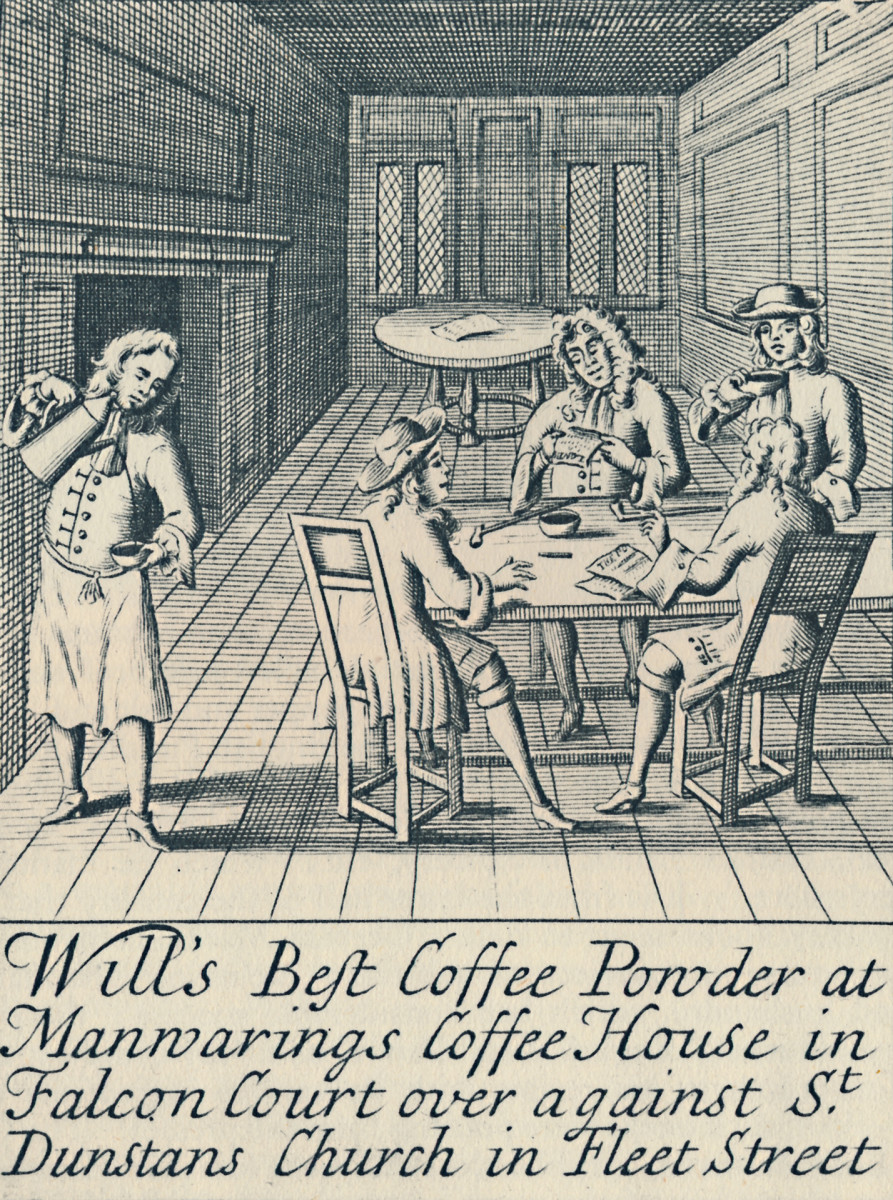 Wills Coffee House, 1700s