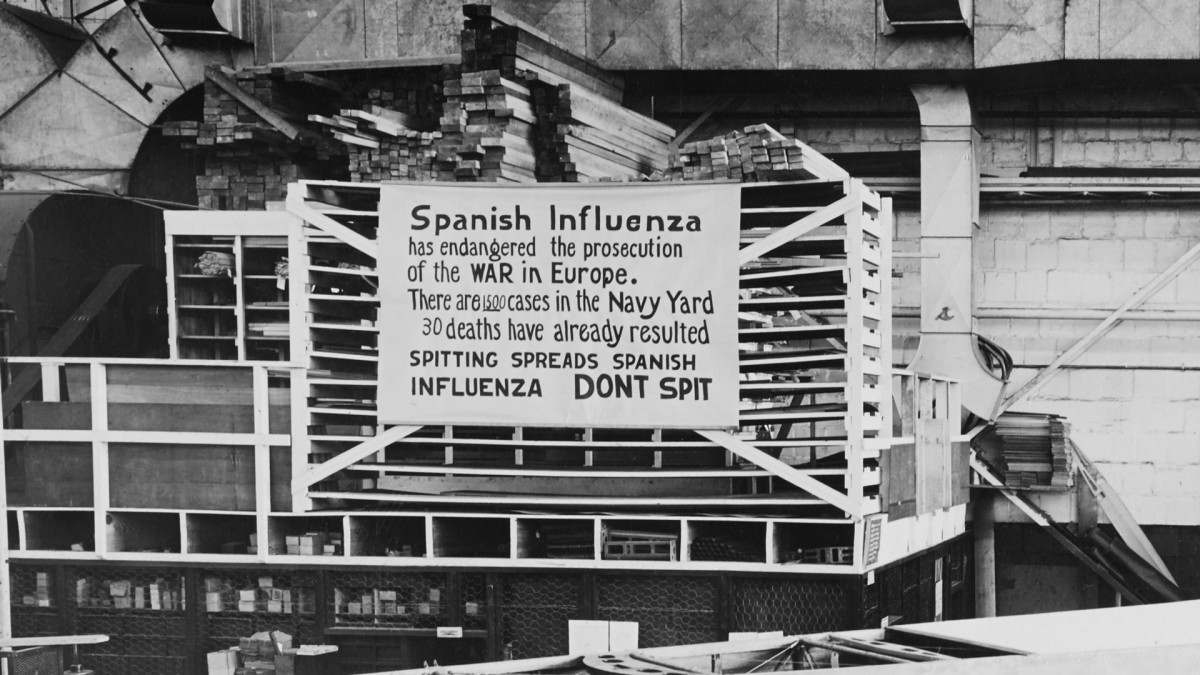 Spanish Flu in the Philadelphia Navy Yard, 1918