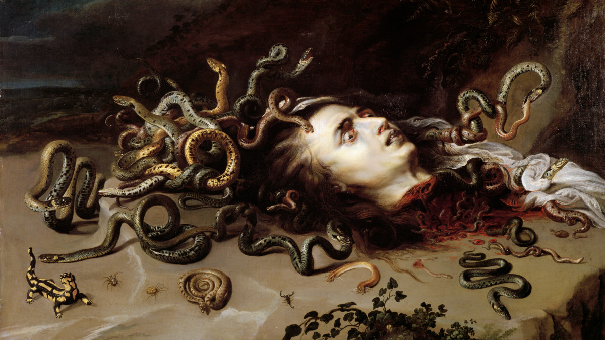 The Head of Medusa, painted by Peter Paul Rubens.