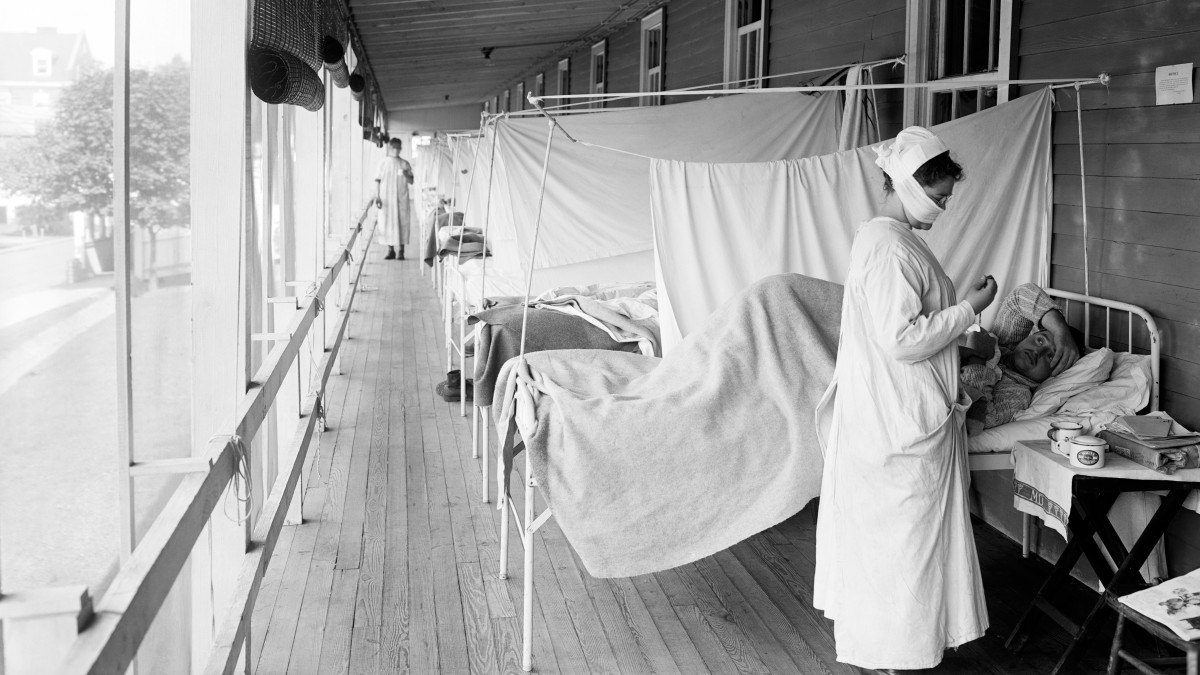 1918 Flu, Walter Reed Hospital