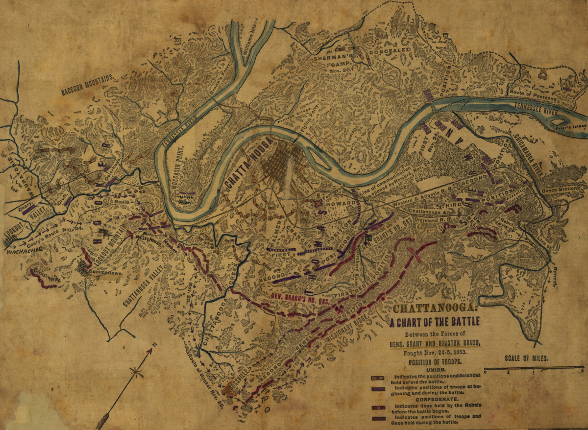 Battle of Chattanooga map