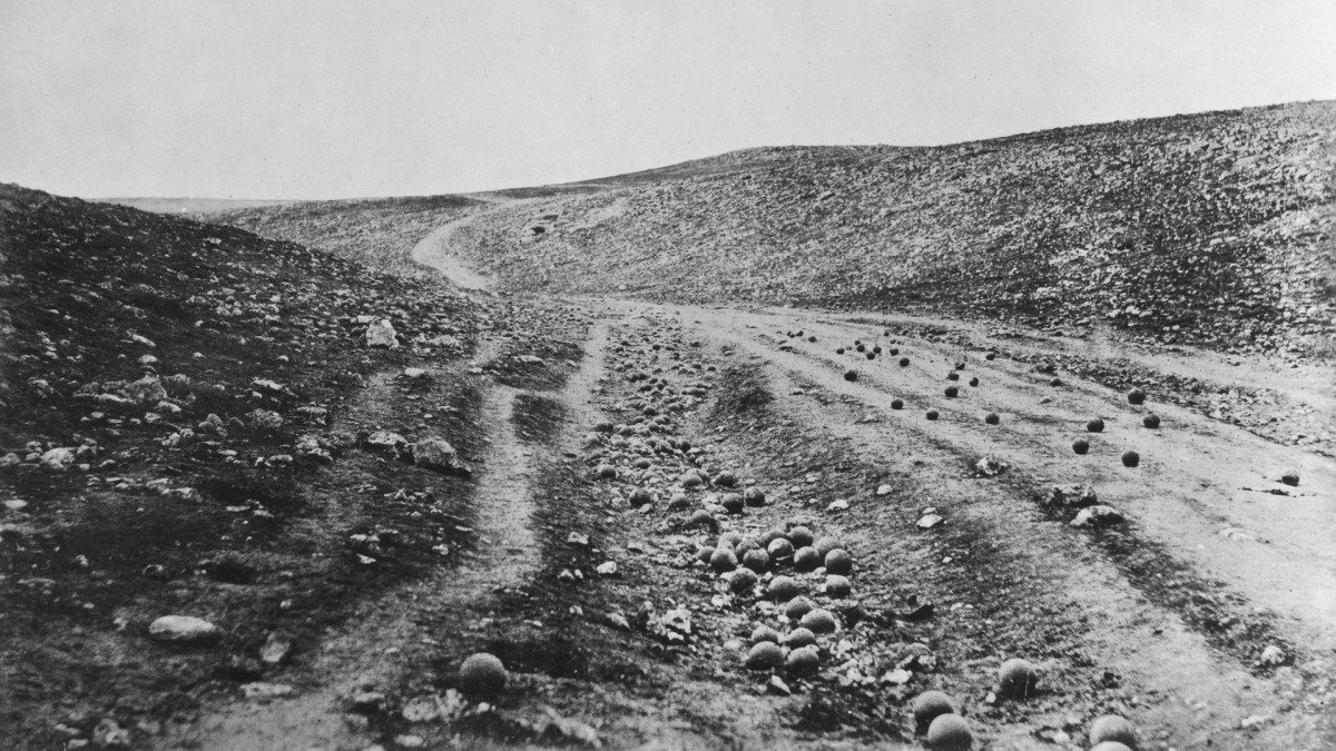 The Valley of the Shadow of Death, photograph by Roger Fenton