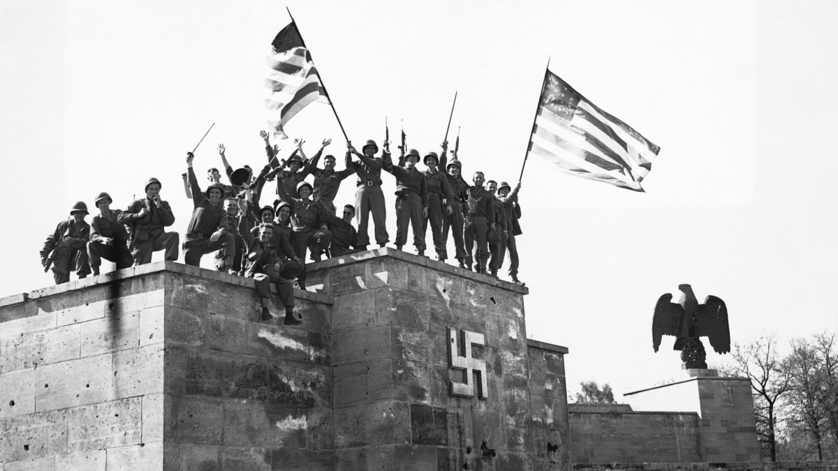 V-E Day, May 8, 1945, Nuremberg, Germany