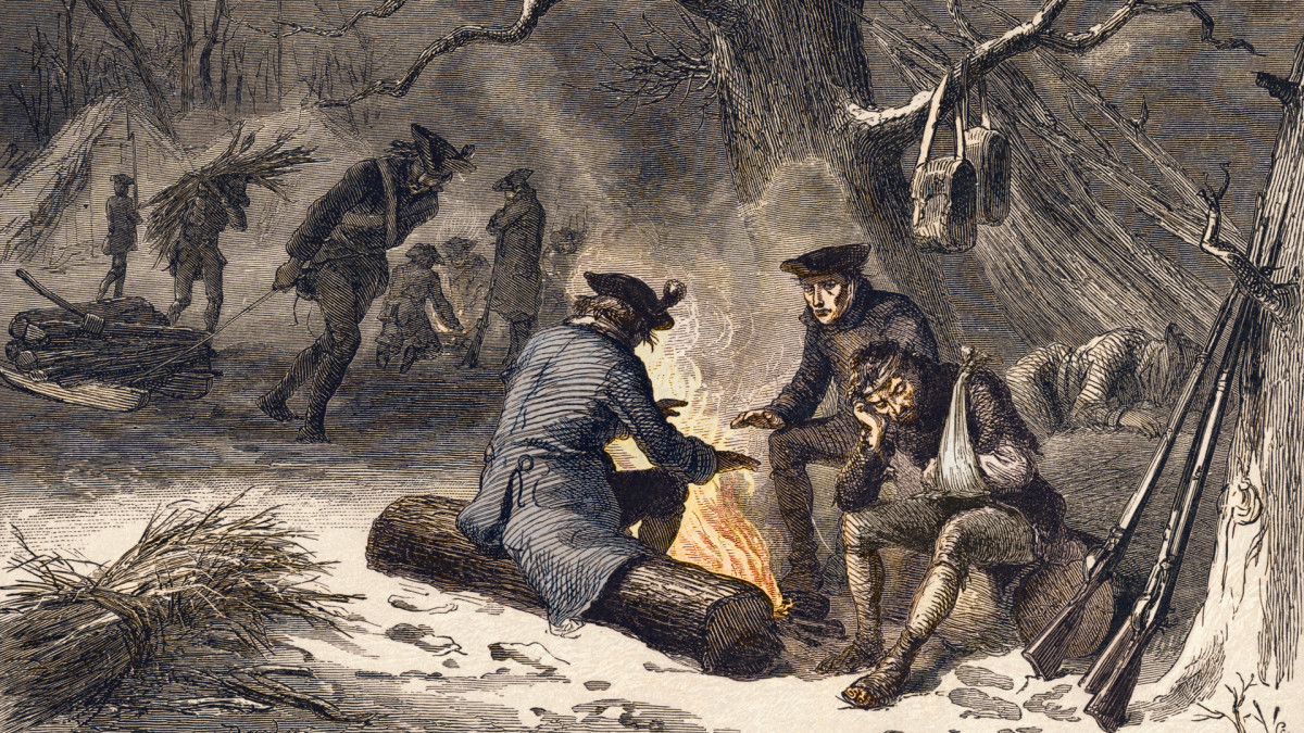 American troops at Valley Forge