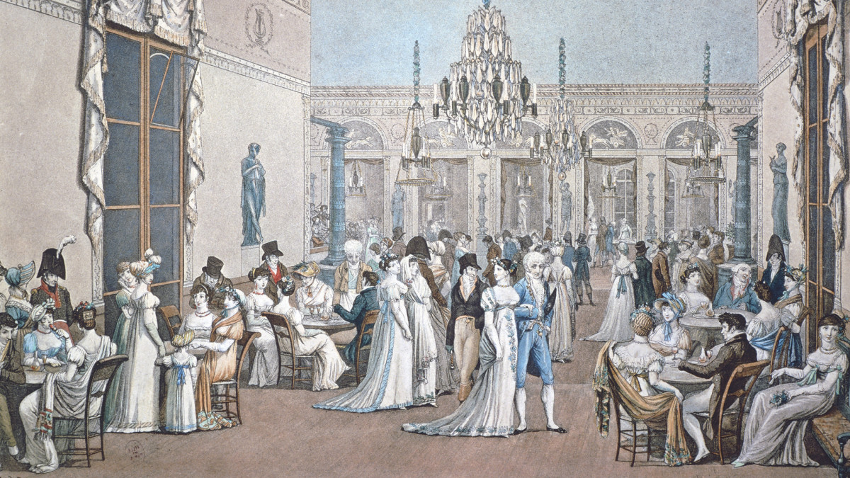 18th-century Cafe Frascati in Paris.
