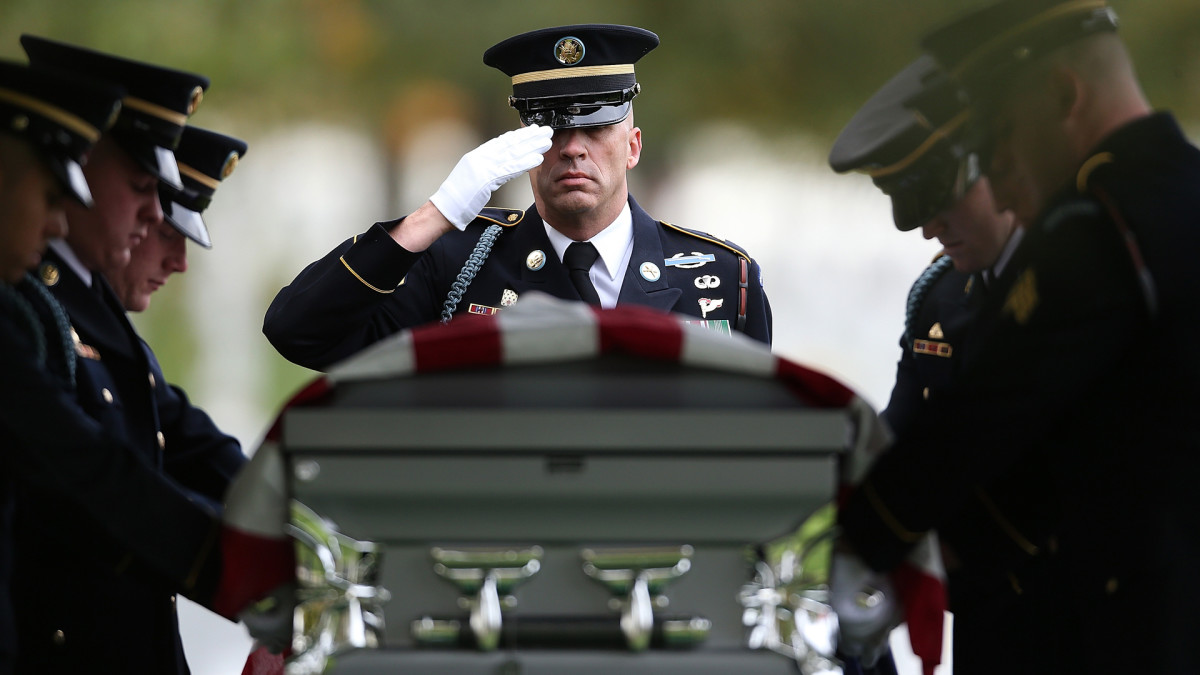 Burial for Missing Soldier from Korean War