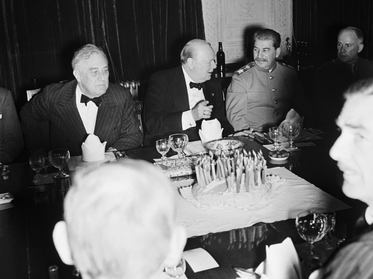 Winston Churchill's 69th Birthday, Tehran Conference
