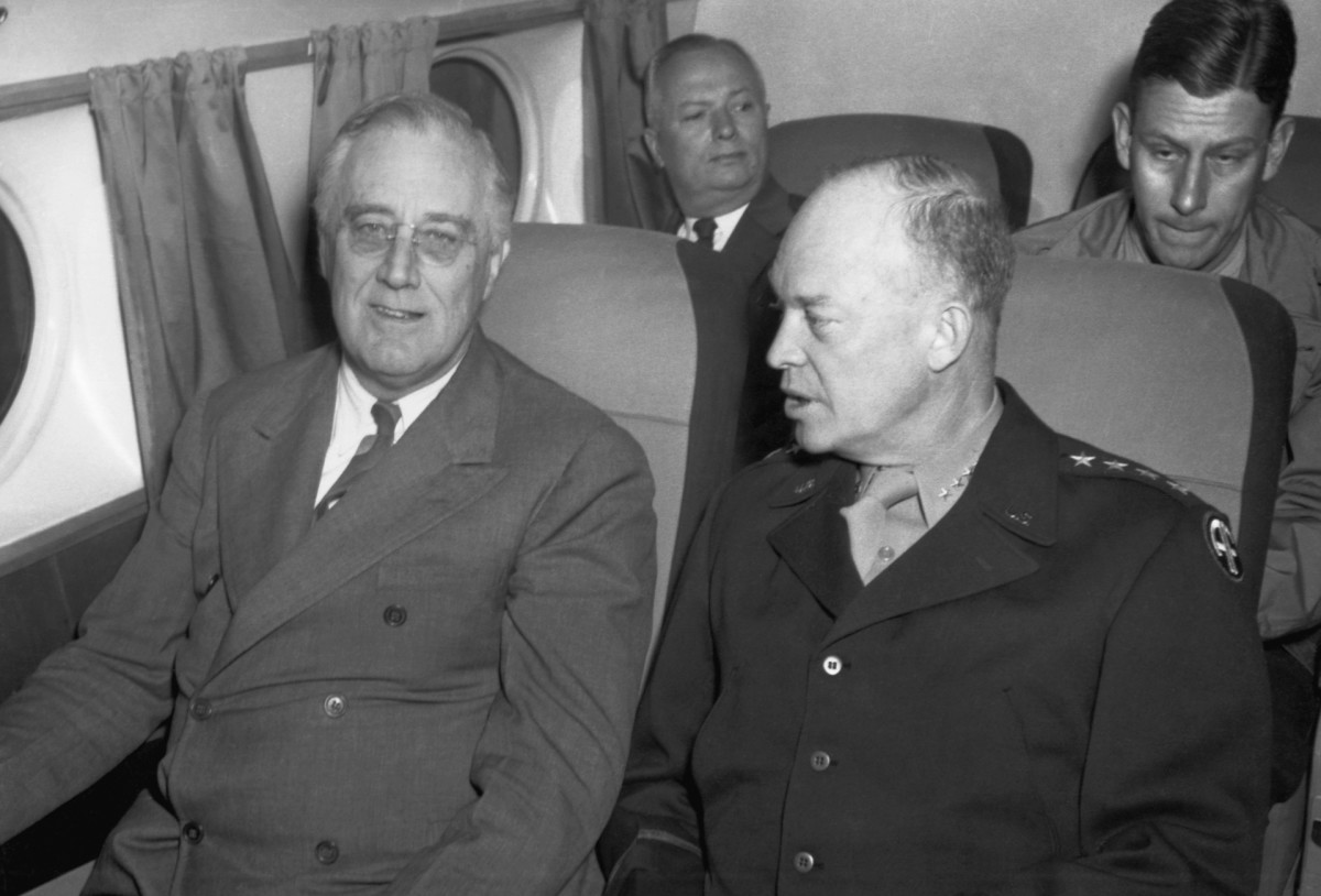 President Franklin Roosevelt and General Dwight Eisenhower, Tehran Conference 1943