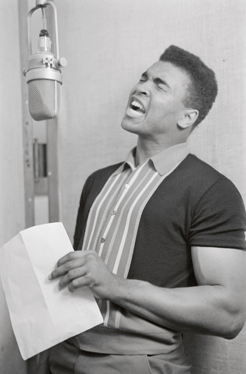 """In 1964. Muhammad Ali recorded a rhythm and blues album, """"The Gang's All Here."""""""