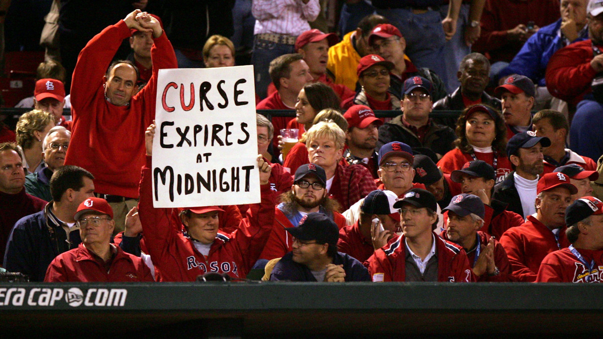 At Game 4 of the 2004 World Series, won by the Red Sox in four games, Boston fans were eager to end an 86-year title drought.