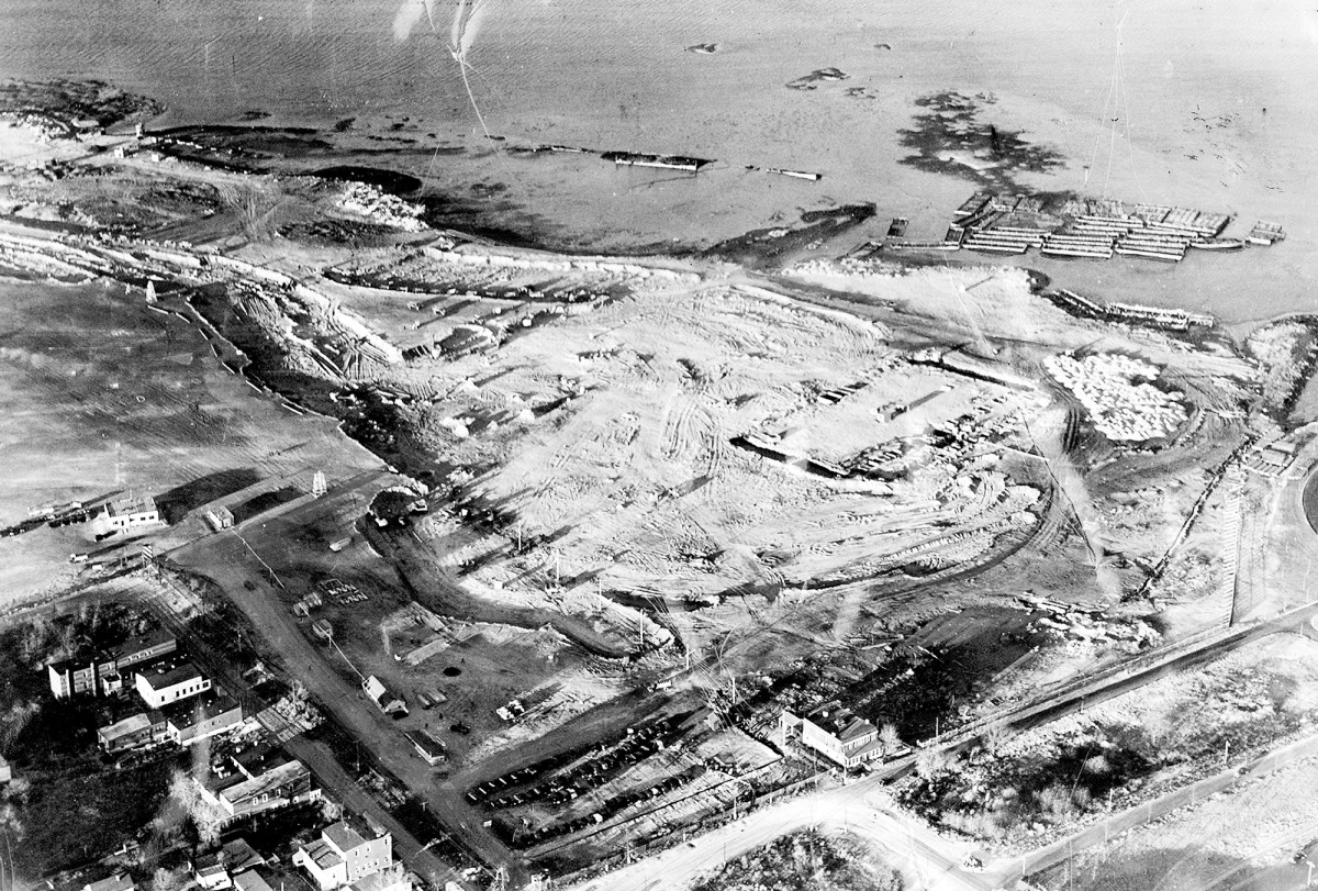 North Beach Airport under construction, now known as LaGuardia Airport