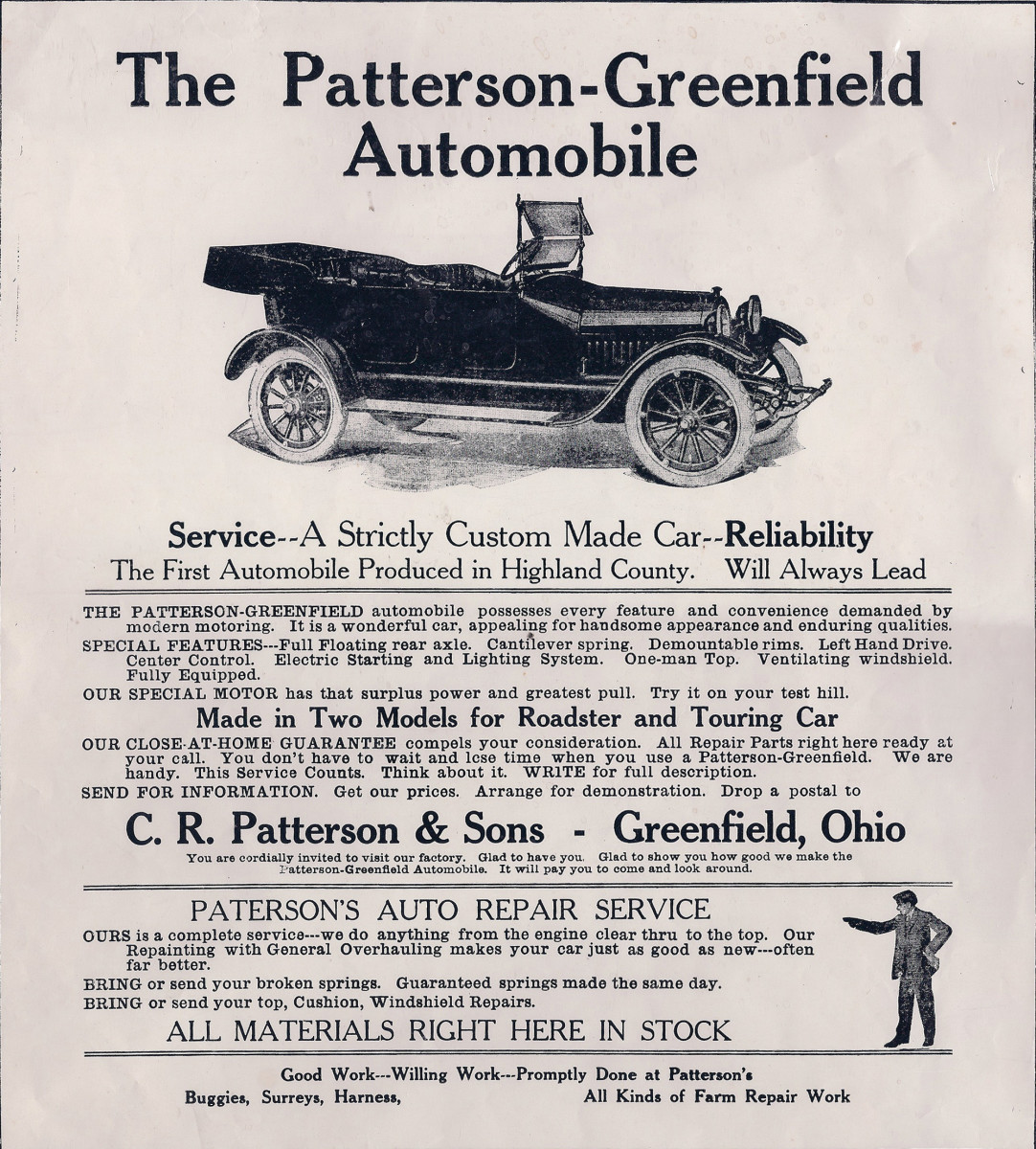 Advertisement for C.R. Patterson & Sons in The Greenfield Republican, 1902 Holiday Edition