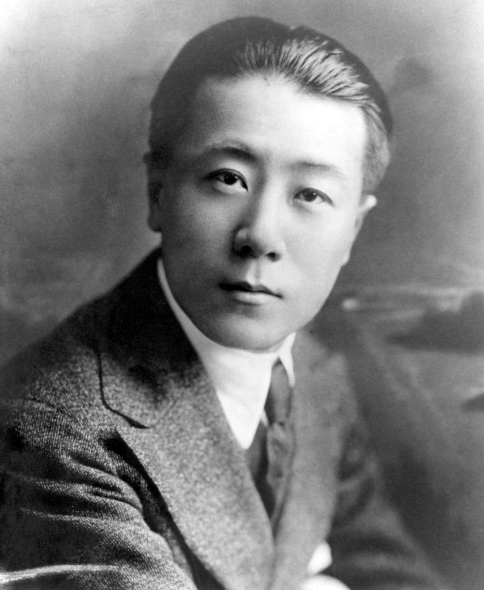 1917 portrait of Wong Tsu, the first Boeing aeronautical engineer, who graduated from MIT the year before