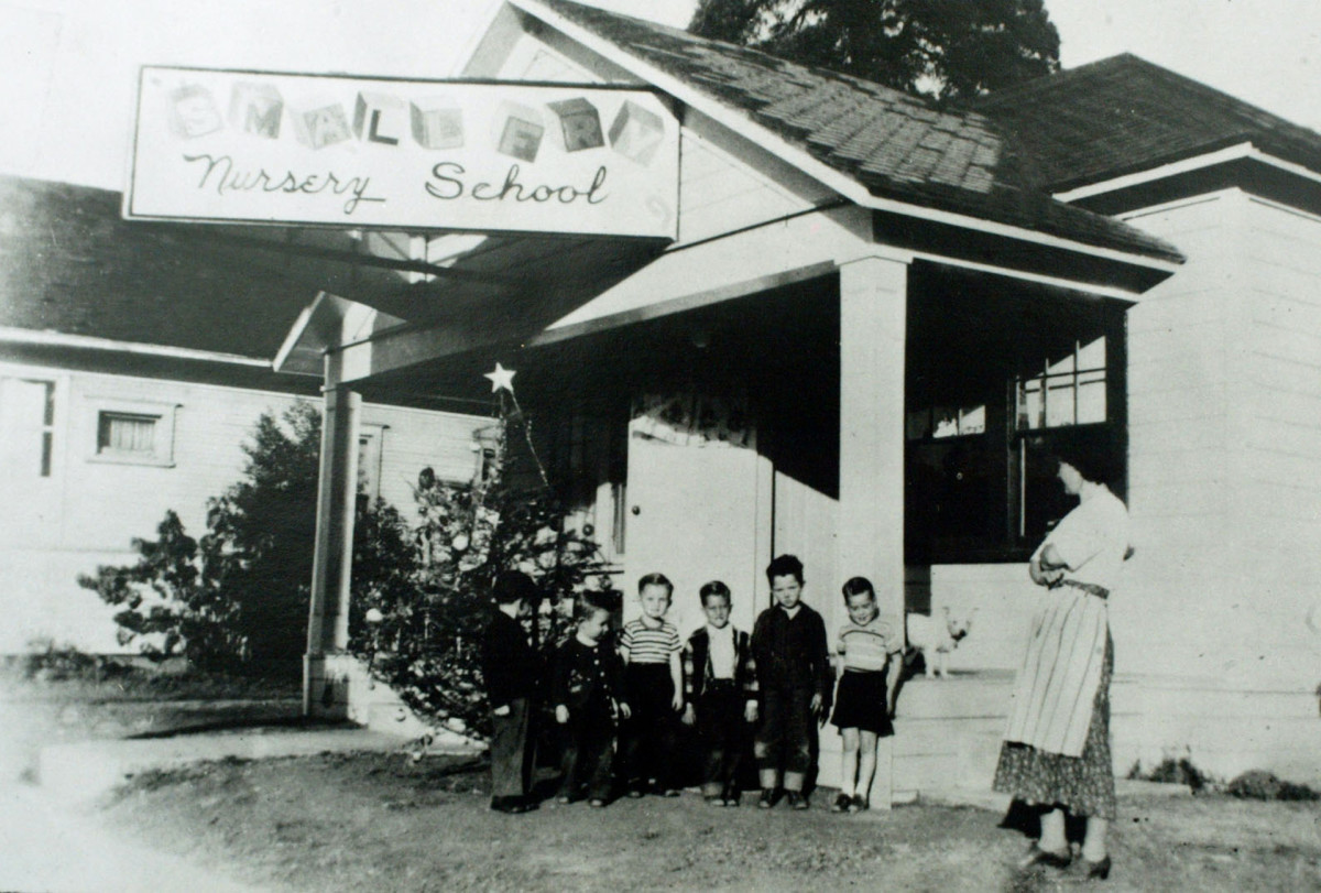 Ruth Pease opened the Little Red School House in 1945 in response to the country's request for help in meeting the child care needs of the post-war community.